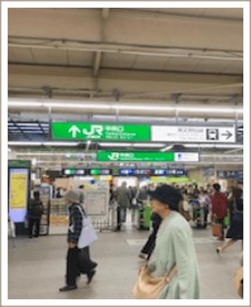 常磐線のJR柏駅の中央改札口を出ます