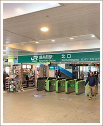 錦糸町駅北口に出ます。
