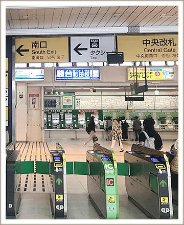 JR町田駅改札を出て左手に進みます。
