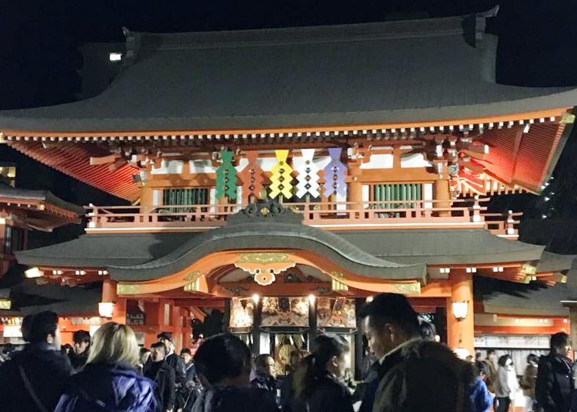地元の神社で初詣