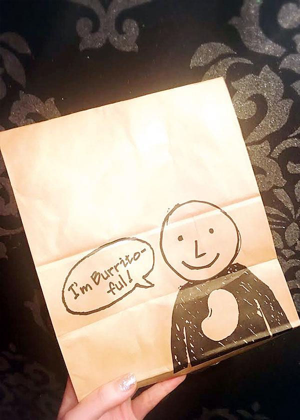 とっても可愛いテイクアウトの袋