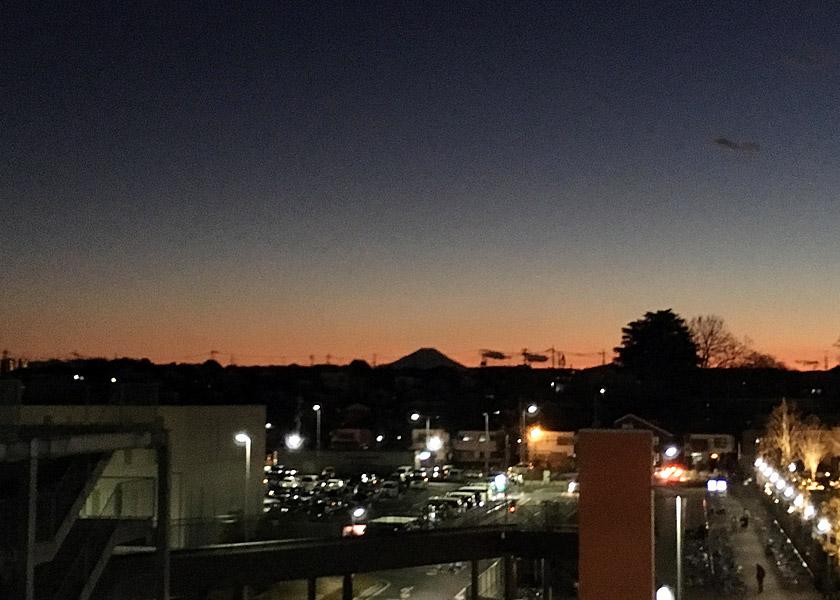 最後は富士見のららぽーとからこんな素敵な景色が!!