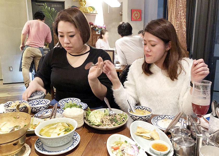 タイ料理は野菜もお肉もバランスよく取れて最高