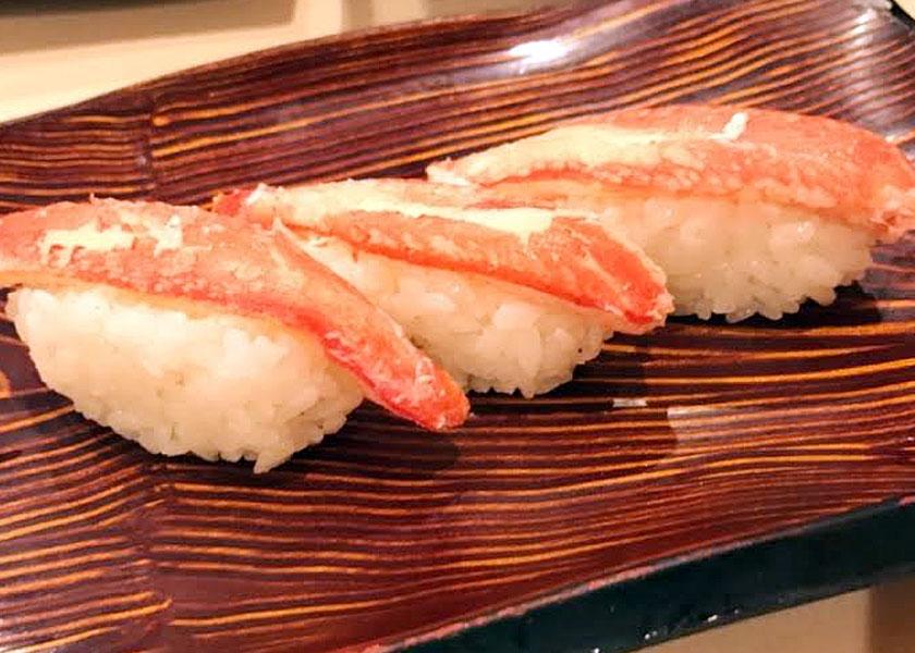 生ものが苦手な野口ですが、蟹の為だけにお寿司屋さんに行きます。(笑)