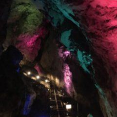 日原鍾乳洞のライトアップ